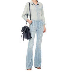 FRAME Le Flare De Francoise Striped High rise Jean